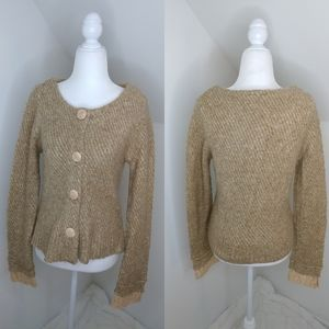 Anthropologie Moth button up cardigan sweater sz M
